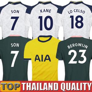 20 21 Tailândia Tottenham KANE BERGWIJN camisetas de futebol esporas 2020 2021 LUCAS DELE SON conjunto de camisa de futebol NDOMBELE Homens Kids Kit uniformes