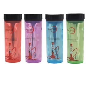 Onuoss coloré acrylique Chicha Chicha Narguilé Coupes Mini Smoking Bong Conduites d'eau portable avec tuyau thé Kit Cup