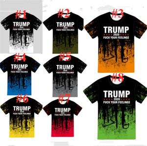 Президент Trump 2020 Футболки Конструкторы Женщины Мужчины футболки Плюс Размер S-5XL с коротким рукавом Топы Tee Спорт Повседневная одежда Письма печати E82601