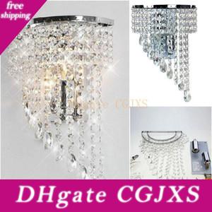 크리스탈 벽 램프 K9 샹들리에 빛 E14 주도 전구 램프 거실 침실 침대 옆 패션 벽 보루 복도 호텔 복도 램프