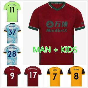Kit uomo bambini Lupi camicia NEVES RAUL casa maglie di calcio 2020-21 ADAMA DIOGO J. Coady NETO Podence DOHERTY BOLY J.OTTO Calcio