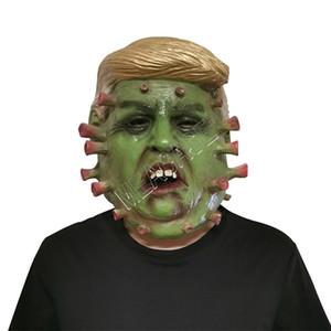 Il presidente degli Stati Uniti Donald Trump lattice mascherina mascherine Designers pieno facciale del partito del costume di Halloween Overhead maschera di teschio spaventoso Designer Mask D81706