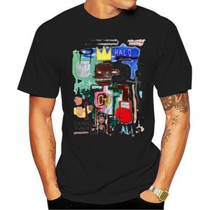 JEAN MICHEL BASQUIAT Graffiti Artiste ALI VS FRAZIER FIGHT Hommes T-shirt blanc
