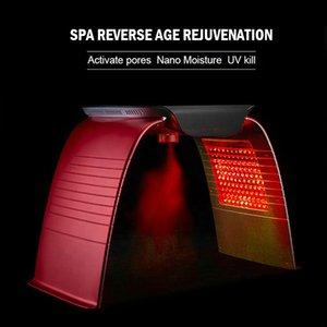 Семь цветов Лечение кожи PDT привело Светотерапия LED Омоложение кожи Лечение акне машина Spa Главная использование с Hot Cold Spray Mode