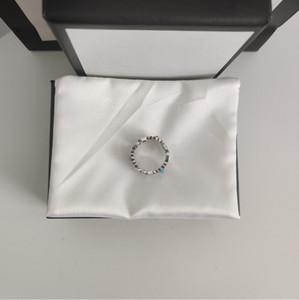 고품질 실버 플레이트 링 중립 꽃 벤 패턴 보석 진주 어머니 진주 반지 패션의 새로운 트렌드 반지 패션 쥬얼리