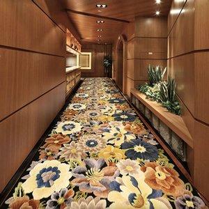 창조적 인 3D 꽃 복도 카펫 호텔 복도 주방 매트 거실 침실 웨딩 장식 카펫 홈 통로 바닥 매트