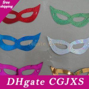 Laser Karton Maske Kreativer Tanz Half Face Glyptostrobus Multi Color Eye Vizard Maske Universal-Fabrik-Großverkauf 0 12jc B R