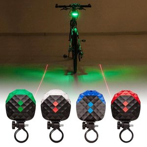 Cola MTB láser bicicleta de la luz recargable USB 5 LED de advertencia de seguridad Luz trasera Riding Equipment