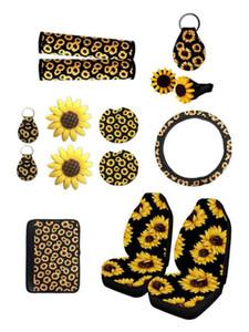 6 / 10шт 3D Car Car Cover Universal Auto Sunfulser Print Seat Case Polyester Волоконное Оформление автомобиля Защитная Пропаганция Аксессуары