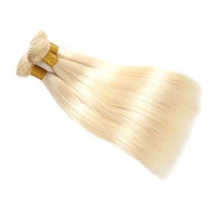 Бразильский Vingir волос Пучки Светлый цвет 613 Бразильский Девы волос Необработанные 3 Связки прямой волны человеческие волосы Weave Связки