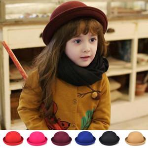 Laine bébé filles chapeau de feutre de laine bébé Bonnet chat oreille Accessoires enfants bonnet enfant Fedoras cadeau de Noël A3900