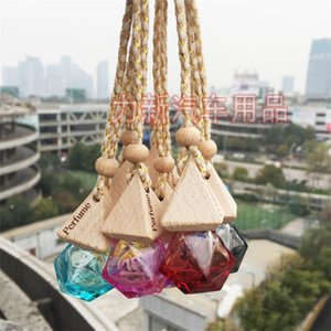 Rhombus Empty Perfume Bottles Air Freshener Car Colour Glass Bottle Pendant Triangle Storage 2ls C2