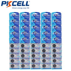 بطاريات زر خلية 125Pcs PKCELL CR2032 3V ليثيوم زر خلية البطارية 210mAh عملة DL2032 2032 KCR2032 5004L للسمارت ووتش حاسبة