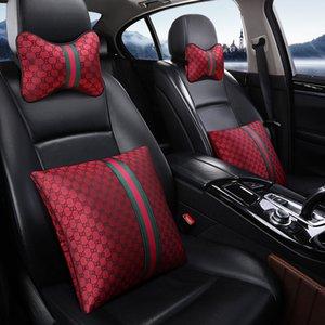 Accessori auto poggiatesta cuscini di alta qualità dei 2 pc per 6pcs Seggiolino Auto copertura 4pc impostati collo Cuscino calette della cintura di sicurezza della copertura del volante Rosa