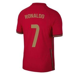 2020 2021 maillots de football Portuga RONALDO JOAO BERNARDO FELIX NANI DIAS 20 21 Portuga B. FERNANDES Camisa de futebol Cancelo Hommes enfants Maillo