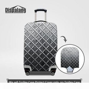 Stretch Elastic Travel Bag Protective Cover For Men Metal Plaid Pattern Luggage Protector Covers For 18 20 22 24 26 28 30 Inch Trolley Cases
