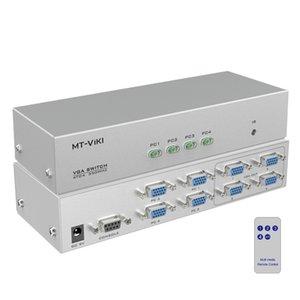 4 a 4 video VGA switch Splitter PC Selector Immagine Distributore telecomando IR RS232 Serial 4X4 MT-404CB
