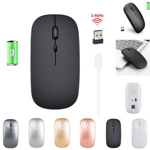 2.4G Wireless Mouse Rechargeable Charging Ultra-Thin Silent Mouse Mute Office Notebook Mice Opto-electronic For Home Office use