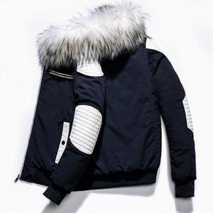 SWYIVY Толстой теплых ветровок пальто зима Мужчина Повседневной Длинные пиджаки с капюшоном меховой воротник ветровки куртка кожаных пальто Мужчина Вест Homme