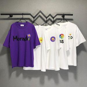 Sun Flor J Balvin Takashi Murakami T-shirt Homens Mulheres Casal Tees Oversized 100% algodão camiseta homens qkgi #
