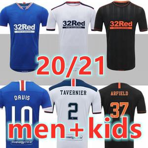20 21 Rangers Glasgow Futbol Forması 2020 2021 Futbol Gömlek Ev Uzakta Üçüncü Defoe Morelos Kent Stewart Aribo Arfield Yetişkin Erkek Çocuk Seti