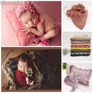 Newborn Wrap Photography Props Baby Girl Boy Bear Hat+Pillow Set Photo Shoot Accessories fotografia Infant Shoot Wrap Prop