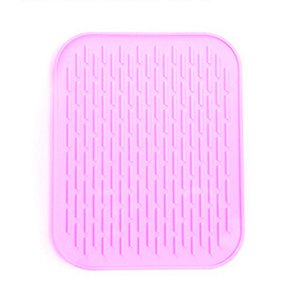 Antideslizante impermeable Coaster Plato de Silicón Individuales estera de tabla Horno de calor cojín del aislamiento de los utensilios para hornear Hornear Liner Tazón Pad AC BH1050