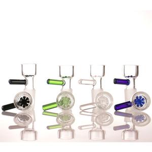 bol en verre de poignée de couleur aléatoire ont 14mm et bol de fumer 18mm beaucoup de couleurs pour Bong en verre