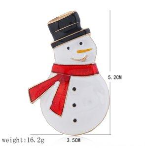 stile coreano accessori creativi semplici di Natale del pupazzo di neve accessori spilla moda stile anti-esposizione delle donne spilla