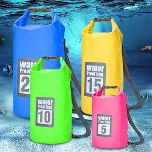 5L 10L 15L 20L Outdoor Waterproof Dry Bag Backpack Sack Storage Trekking Rafting Sports Kayaking Canoe Swimming Bag Travel Kits