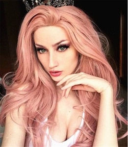 Hot Sale Heat Resistant Synthetic Curly Wigs Glueless Cosplay Long Fashional Pink Wigs Fiber Easy Wear for Women