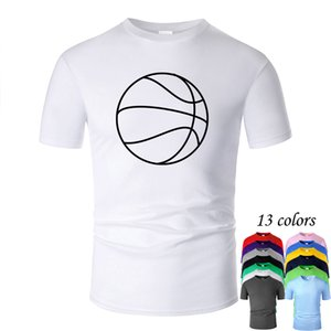 Basketball Line Art O Neck Cotton T Shirt Men and woman Unisex Summer Short Sleeve Designed Casual Tee m02008