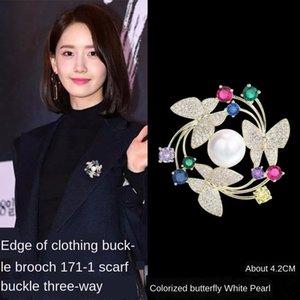 бабочка венок брошь корейский стиль ювелирных изделий костюм инкрустированные высокого класса Pin бабочка булавка брошь y0t5Y
