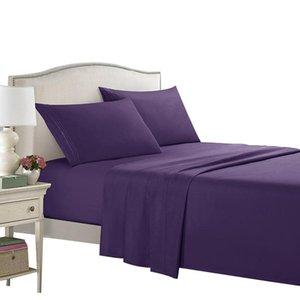 (Hayır Nevresim) yastık kılıfı 4 adet Mattress ile Nevresim King Size Yatak Nevresim Takımları için Elastic ile Lastikli Çarşaf Setleri Kapaklar