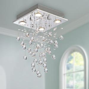 Indoor led crystal chandelier bedroom exhibition hall decoration crystal ceiling lamp living room LED ceiling lamp export lamp pendant lamps