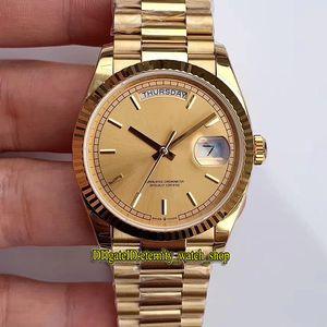 V2 Versão de atualização EWF Daydate 36mm 118238 128238 Cal.3255 Automático 128239 mens relógio ouro Dial 18k caso ouro jubilie strap amantes relógios