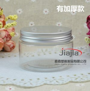 120ml Empty Container for Styling Gel Hair Wax 120g Cream Jar PET Packaging Clear Jar with silver aluminum cover