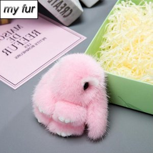 Luxurious Copenhagen 8cm Cute Fluffy Car Keychain Real Genuine Key Chains Bag Toys Doll Lovely Keyring Pendant
