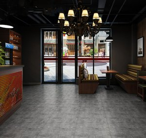 Urban Ceramic wholesale Nordic cement gray antique brick 600*600 guest restaurant matte non-slip tile engineering floor