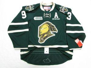 Su ordine all'ingrosso Mitch Marner LONDON KNIGHTS VERDE OHL CCM hockey jersey punto aggiungere qualsiasi numero qualsiasi nome Mens Hockey Jersey XS-6XL