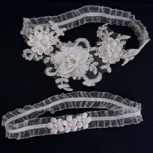 Boho Свадебный стиль Свадебный Подвязки Sexy кружева ноги аксессуары 2020 Rhinestore Pearls Wedding Поставка Дешевые На складе Кружева Свадебные подвязки