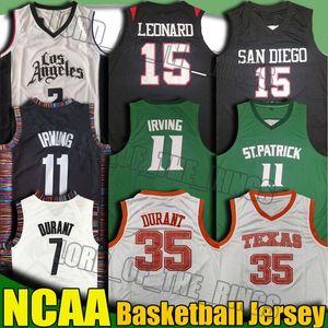 NCAA Texas University Kevin Durant 35 Jersey Kyrie 11 Jerseys Irving Kawhi 2 Jersey Leonard Paul 13 George College Basketball Jerseys