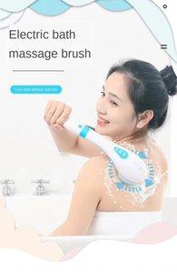 Nuovo multi-funzionale massaggio viso lavaggio artefatto indietro scrub manico lungo massaggio elettrico vasca da bagno di ricarica spazzola impermeabile