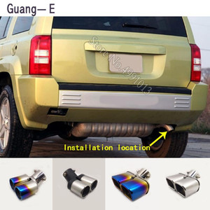 For 2009-2010 car stickers cover muffler exterior back end pipe dedicate exhaust tip tail outlet ornament 1pcs