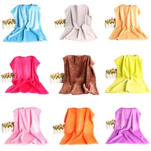 50X70 cm flanela cobertor macio super Tapete Home Office Crianças Use cobertores de lã de viagens suprimentos portáteis Multicolor Escolha