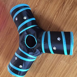 Wholesale Cat Puppy Rabbit Toy Tubes & Tunnels Premium Three Way Extensible Collapsible Cat Tunnel Collapsible Pet Cat Tunnel TQQ BH0814