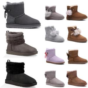 2020 Yeni Avustralya kadınlar Mini bayanlar Mini ayak bileği klasik kızlar üçlü donanma botları kahverengi boyutu ugg women men kids uggs slippers furry boots slides