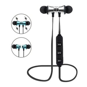 Xt -11 Bluetooth 4 .2 Earphones Magnetic Wireless Running Sports Headphones Headset With Mic Mp3 In -Ear Earbud Stereo Bass Music Earpieces