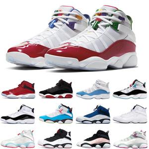 Nike Air Jordan Retro 6 6s Anelli scarpe da donna di pallacanestro del Mens spazio fresco Grigio Jam Nero Opaco Argento uomini addestratori scarpe da tennis Sport Dimensioni