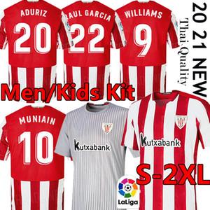 20 21 Bilbao camisas de futebol Soccer Jersey Athletic WILLIAMS MUNIAIN Aduriz I.MARTINEZ Raúl García Camiseta de Fútbol Homens uniformes jérseis